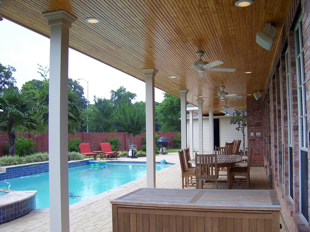 Good Ceiling Fans U0026 Recessed Lightning Detail, Patio Cover